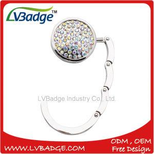 Custom Metal Folding Purse Hook Bag Hanger with Diamond pictures & photos