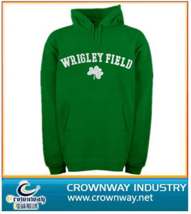 Green Hoodies with White Embroidery Logo on The Chest pictures & photos