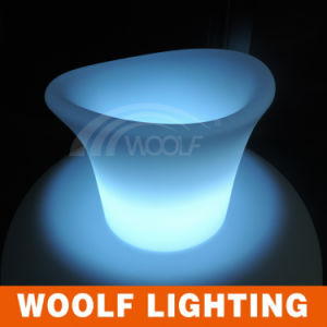 Decorative Bar Rechargeable LED Light Ice Bucket pictures & photos