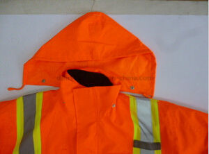Safety Parka with Oxford Waterproof Fabric and PP Cotton Liner pictures & photos