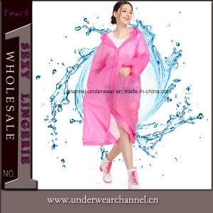 Adult Non-Disposal Breathable Nylon Polyester Vinyl Poncho Rainwear Raincoat (SK-A305-1) pictures & photos
