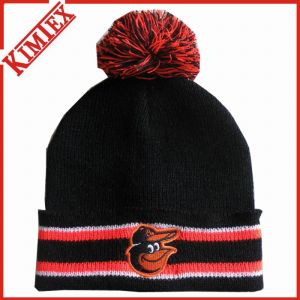 Promotion Cuffed Knitted Hat with POM POM pictures & photos