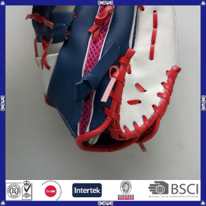 Popular PU Leather Mesh Baseball Glove pictures & photos
