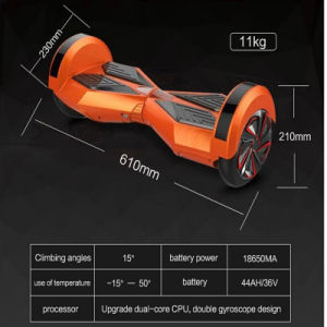 Best Christmas Gift Free Shipping Self Balancing Hoverboard Electric Scooter with LED Lights