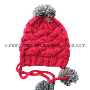Fashion Winter Lady Acrylic Knitted Beanie Skull Hat/Cap pictures & photos