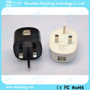 Portable Travel 5V 2.1A Dual USB Wall Charger AC Adapter (ZYF9029) pictures & photos