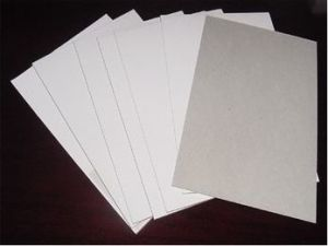 350GSM White Coated Duplex Board with Grey Back pictures & photos