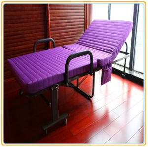 Folding Metal Bed with Purple Color Mattress 190*90cm pictures & photos