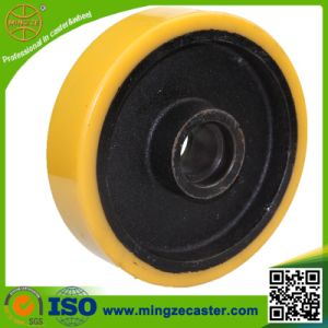Container Heavy Duty Cast Iron Core PU Caster Wheel pictures & photos