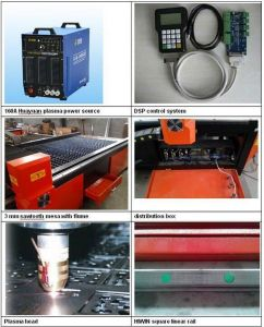CNC Carbon Steel Plasma Cutting Machine Powermax 105A/200A for 20mm Metal Cutter  pictures & photos