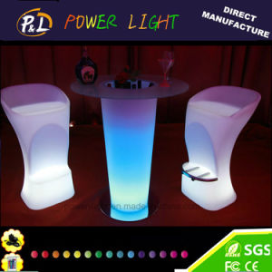 Modern Bar Furniture Lighted Colorful Plastic LED Stool pictures & photos