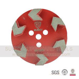Magic Tape Arrow Segment Diamond Floor Grinding Tool Plate Wheel pictures & photos