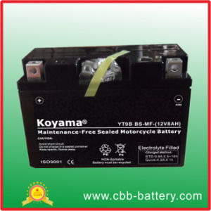 12V8ah/Yt9b-BS Motorcycle Battery Lead Acid Battery (motorbike battery) pictures & photos