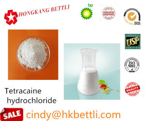 Efficient Local Anesthetics Raw Powder Tetracaine Hydrochloride HCl for Pain Reliever pictures & photos