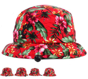Colorful Flower Leisure Ladies Fashion Bucket Hat with Embroidery Logo pictures & photos