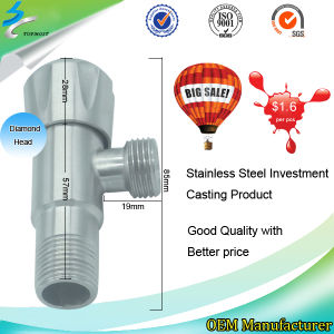 Water Stainless Steel Casting Angle Stop Valve in Bathroom Accessories pictures & photos