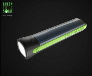 Multi-Functional Solar Power 200-Meter-Lighting 1W 5-LED Torch Flashlight with 4000mAh Battery Powerbankd K01-2