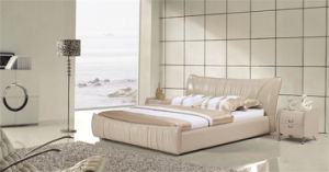 High Quality Leather Soft Bed Bedroom Furniture pictures & photos