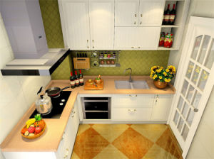 Modern High Gloss PVC Lacquer Kitchen Furniture pictures & photos