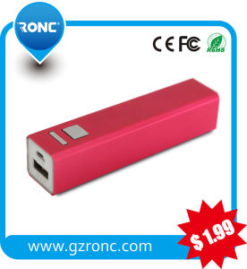 Portable Power Bank with Micro USB Cable 2600 mAh Battery Charger pictures & photos