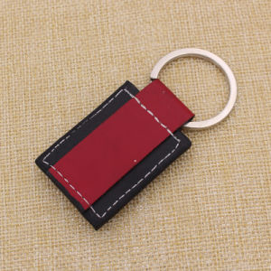 Zhongshan Hot Sale Two Color PU Lether Keyring pictures & photos