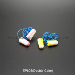 Soft PU Foam Earplugs with Cord (EP605) pictures & photos