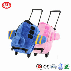 Fashion Lovely Children Plush Trolley Luggage Plane Shape Toy pictures & photos