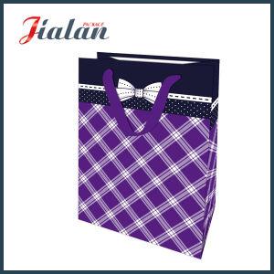 128g Matte Lamination Ribbon Bow Retail Paper Gift Bag pictures & photos