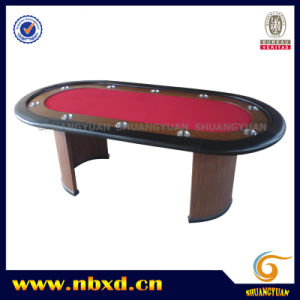 10 Person Poker Table with Wooden Leg (SY-T02) pictures & photos