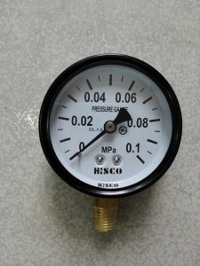 "2.5"" Black Steel Case Pressure Gauge pictures & photos"