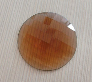 Transparent Unfoiled Back 25mm Round Flat Back Stones pictures & photos