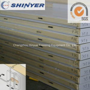 75mm Polyurethane PU Sandwich Panel with 0.6mm Color Steel Plate pictures & photos