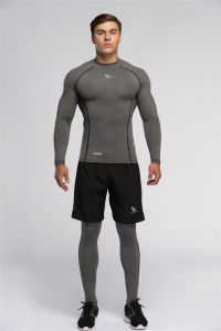 Men′s Tight Sport Wear with Speical Coverstitching (SP16001)