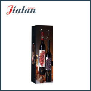Wholesale Cheap Custom Printed Wine Bottle Shopping Gift Paper Bags pictures & photos