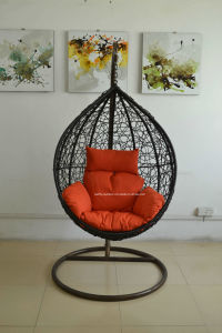 Outdoor and Indoor PE Rattan Egg Swing Chair pictures & photos