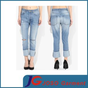 Long Lady Fit Jeans Women′s Jeans Garment (JC1364) pictures & photos