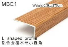 Mbe1 L Shape Angel End Wrapped PVC Wearable Wood Coated Flooring Profile End pictures & photos