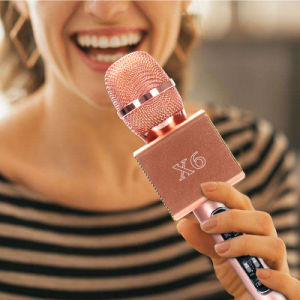 X6 Wireless Microphone Karaoke Player Party at Home KTV Song Bluetooth Speaker for iPhone Smartphone Android pictures & photos