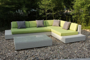 Modern Wicker Sectional Lounge Sofa Set Patio Garden Rattan Outdoor Furniture pictures & photos