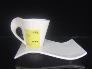 Porcelain Irregular Shaped Coffee Cup pictures & photos