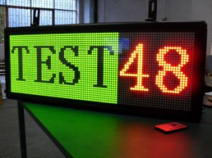 Outdoor Dual Color LED Sign P10 Scrolling Message LED Display