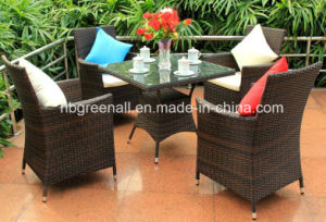 Outdoor Rattan Swivel Dining Table Set (GN-8627D) pictures & photos