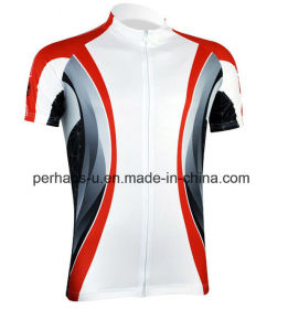Quick-Drying Unisex Cycling Jersey with Zipper Placket pictures & photos