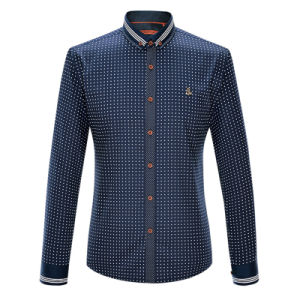 Men Printed Fashion Clothes Long Sleeve Dress Shirts pictures & photos