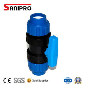 PP Ball Valve Compression Double Union Ball Valve pictures & photos