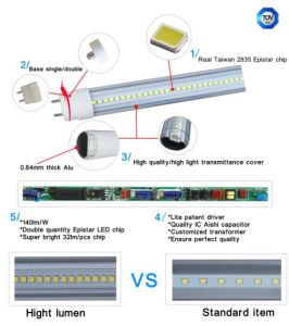 160lm/W High Lumen T8 LED Tube Light 30W pictures & photos