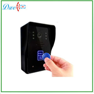 7 Inch Color Wired Video Door Phone Intercom System with ID Card Function pictures & photos