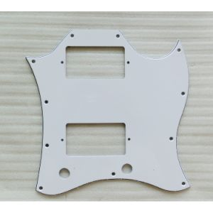 Full Size White Saga Pickguard for Sg Guitar pictures & photos