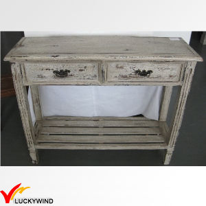 Hand Painted Vintage Console Antique Red Wooden Table pictures & photos