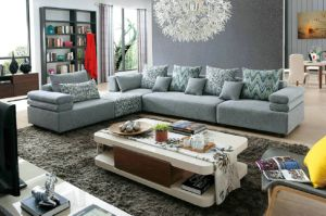 Fabric Sofa for Living Room Sofas L Shape Fabric Sofa K381 pictures & photos